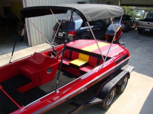 Custom boat top & interior