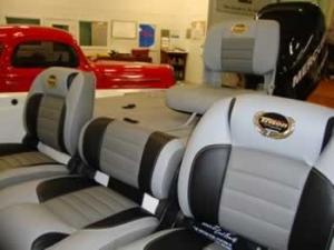 Custom Triton Boat seat upholstery