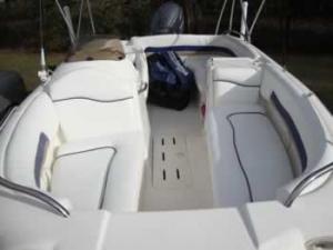 Hurricane boat reupholstery