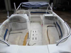 Hurricane boat needs reupholstery
