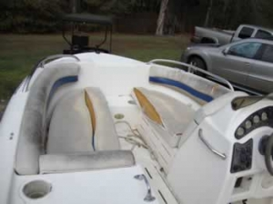 Fixed torn Hurricane boat seats
