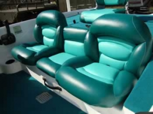 Reupholstered Bass boat