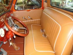 custom leather truck interiors