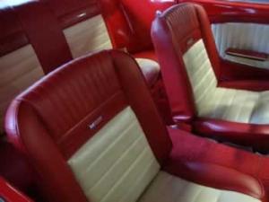 Original Mustang interior reupholstery