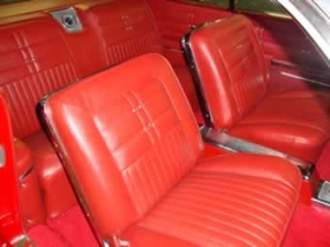reupholstered front seats
