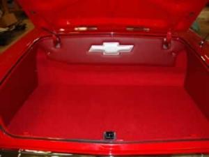 '63 Impala custom trunk liner