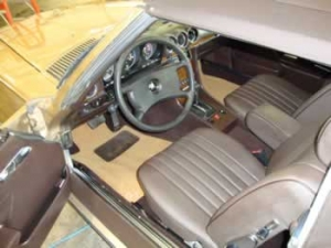 Mercedes SL reupholstery