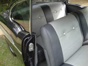 Custom car vinyl upholstery