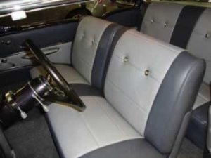 Custom car reupholstery