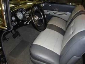 Custom vinyl seat upholstery