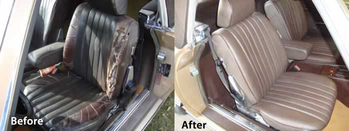 befolre - after auto interior