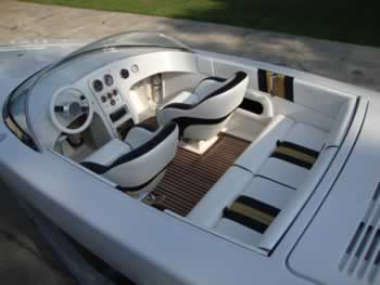 Great Alpha Z Boat Interior